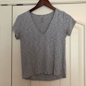Pacsun Gray V-Neck Tee, M